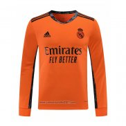 Camiseta Real Madrid Portero Segunda Manga Larga 2020-2021
